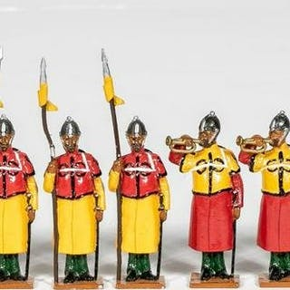"""13 Pc, Unidentified Maker """"19th C Persian"""" Soldier"""