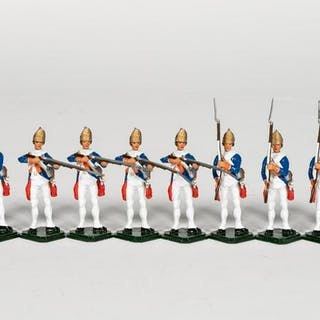 "10 Pc, ANI ""18th Century German"" Toy Soldiers"