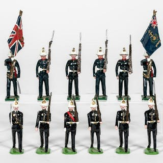 "12 Pc, Mixed Group ""British 19th C. Naval"" Soldier"