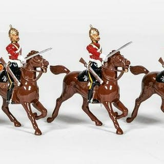 "5 Pc, Britains ""British Mounted Calvary"" Soldiers"