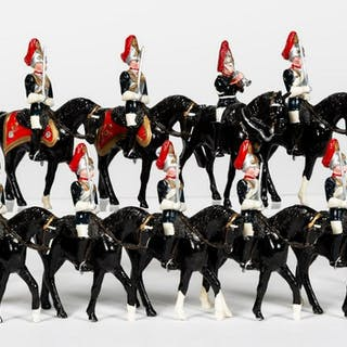 9 Pc, British Royal Horse Guard Toy Soldiers