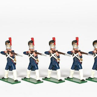 """6 Pc, Soldiers of the World """"French Navy"""" Soldiers"""