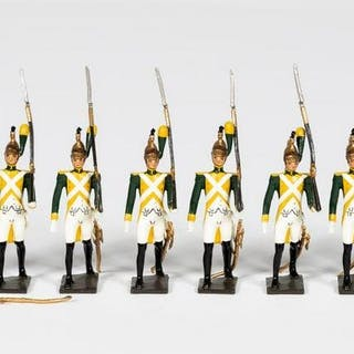"12 Pc, Mignot ""French Napoleonic Band"" Soldiers"