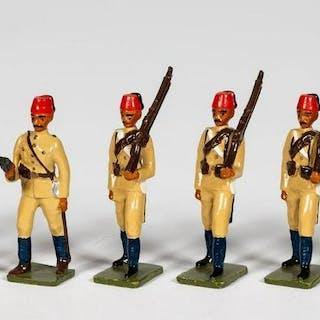 "8 Pc, Unidentified Maker ""Turkish Infantry"""