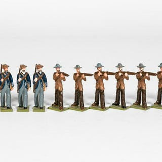 "12 Pc, Steadfast ""Boer War"" Toy Soldiers"