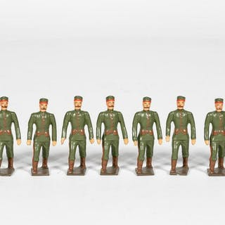 "9 Pc, Mignot ""Russian Guards"" Toy Soldiers"