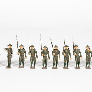 """12 Pc, Mignot """"American Forces"""" Toy Soldiers"""