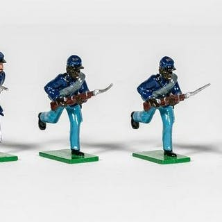 7 Pc, 54th Massachusetts Infantry Toy Soldiers