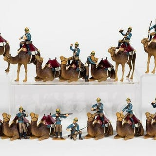 Large Group of Camel Corps Toy Soldiers