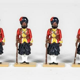 """8 Pc, Britains """"Indian Infantry"""" Toy Soldiers"""