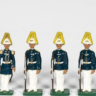 "6 Pc, Waterloo Galleries ""Hawaiian Palace Guards"""