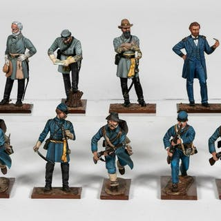 "9 Pc, Russian Studio ""Civil War"" Toy Soldier Model"