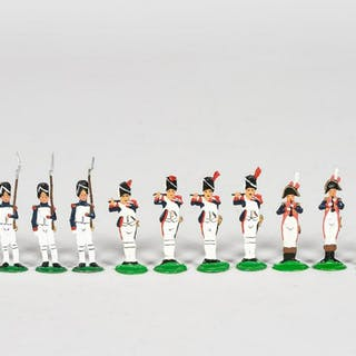 13 Pc, Small French Napoleonic Toy Soldiers