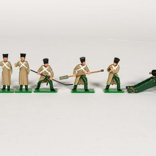 """7 Pc, Trophy Miniatures """"Russian Cannoneer"""""""