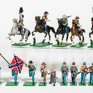"20 Pc, Trophy Miniatures ""Confederate Civil War"""