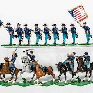 """28 Pc, Trophy Miniatures """"Union Civil War"""" Soldier"""