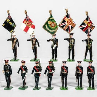 "14 Pc, Ducal & Sarum ""British Color Guard"" Soldier"