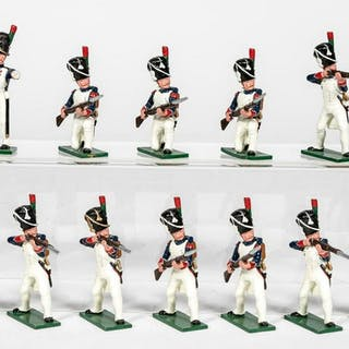 "12 Pc, Soldiers of the World ""French"" Toy Soldiers"