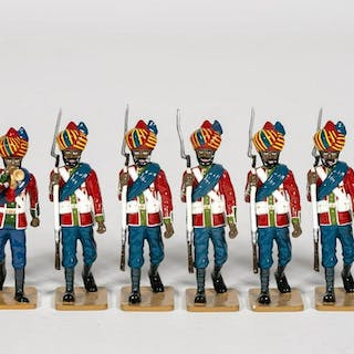 "8 Pc, ""British Indian"" Toy Soldier Grouping"