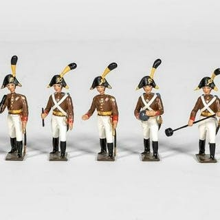 "8 Pc, Mignot ""Italian Cannoneers"" Toy Soldiers"