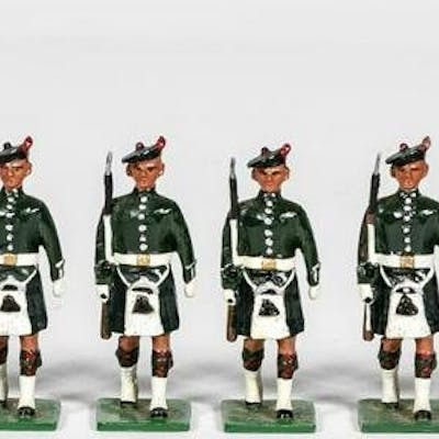 """12 Pc, Signed """"Irish Infantry"""" Toy Soldier Group"""