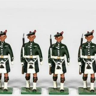 "12 Pc, Signed ""Irish Infantry"" Toy Soldier Group"