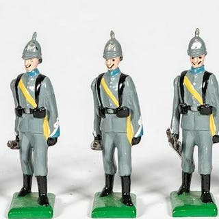"7 Pc, Unidentified Maker ""German Infantry"" Soldier"