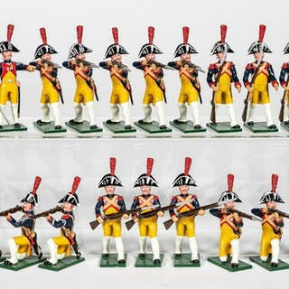 "18 Pc, Soldiers of the World ""18th C. French"""