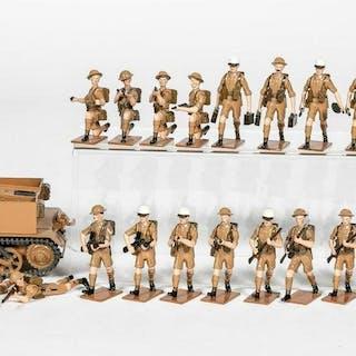 "27 Pc, Fusilier Miniatures ""WWII British Bren Gun"""
