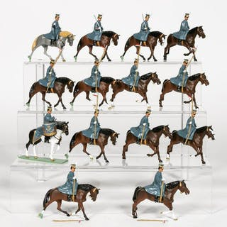 "14 Pc, HM ""Polish Lancer"" Toy Soldiers"