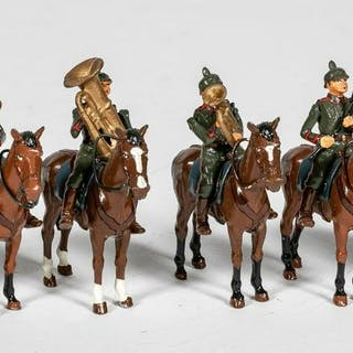 "12 Pc, ""German Mounted Horn Calvary"" Soldiers"