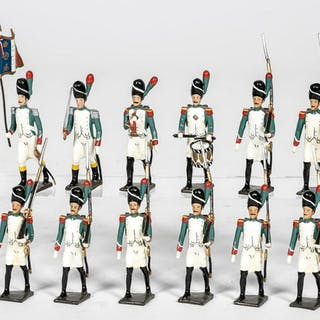 "12 Pc, Mignot ""French Napoleonic"" Toy Soldiers"