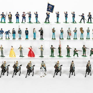 56 Pc, Miscellaneous Toy Soldier Grouping