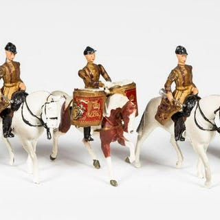 "5 Pc, Britains ""Mounted Musical Band"" Toy Soldiers"