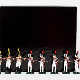8 Pc, ANI & Other Toy Soldier Grouping