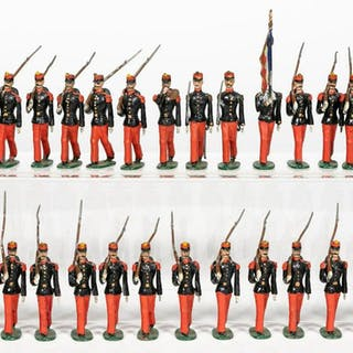 """26 Pc, Early Britains or Mignot """"French Infantry"""""""