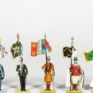 7 Pc, Stadden Hand Painted Military Soldiers