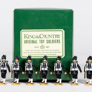 """9 Pc, King & Country """"Indian Police"""" Toy Soldiers"""