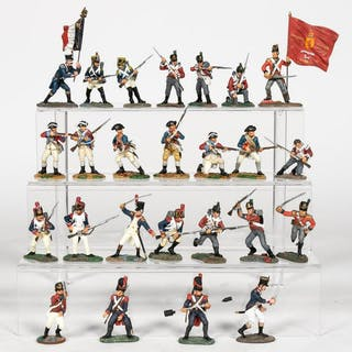 25 Pc, Britains Hand Painted Toy Soldier Models