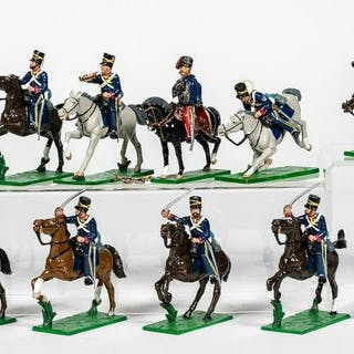 """13 Pc, Trophy Miniatures """"Charging Calvary"""""""