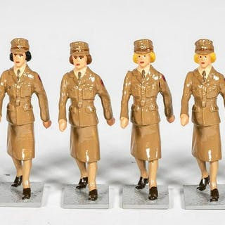 "6 Pc, Unidentified Maker ""Female Marching"""