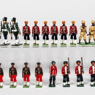 """30 Pc, Mixed Maker """"Indian Army"""" Toy Soldiers"""