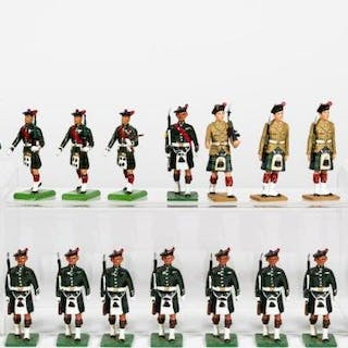 "26 Pc, Mixed Maker ""Scottish"" Toy Soldier Grouping"