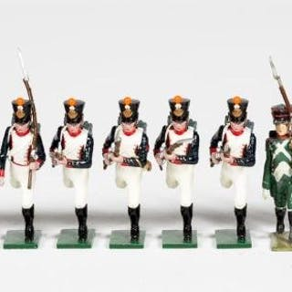 """12 Pc, Mixed Maker """"French"""" Toy Soldiers"""