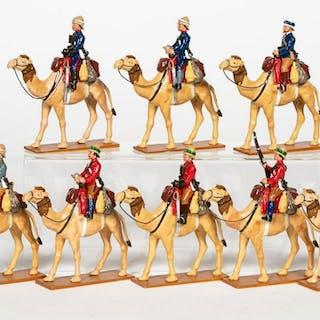 "8 Pc, Trophy Miniatures ""British Camel Corps"""