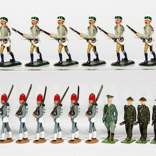 23 Pc, Mixed Maker Toy Soldiers Grouping