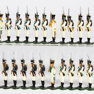 """24 Pc, Revo """"French Army"""" Toy Soldiers"""