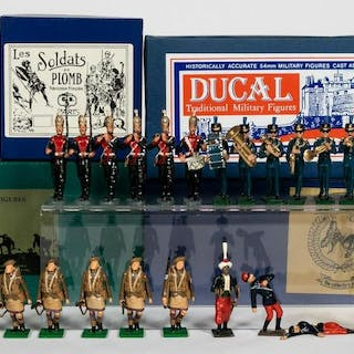 23 Pc, Mixed Maker Toy Soldier Grouping
