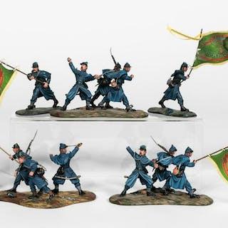 5 Pc, Hand Painted Union Irish Brigade Soldiers