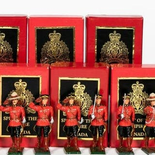"10 Pc, Spirit of the Empire ""RCMP"" Toy Soldiers"